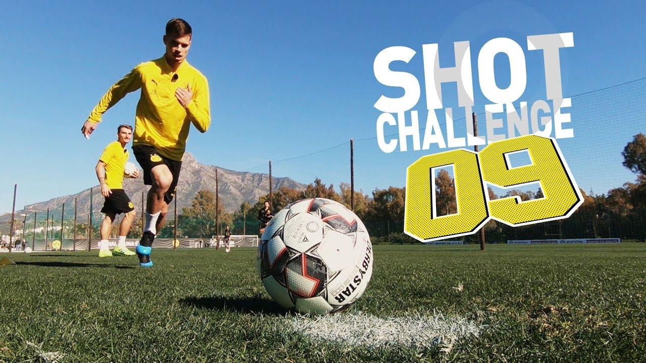 09 Shot Challenge   3 Elfer, 3 Freistöße, 3 Volleys beim BVB  Wolf & Weigl vs. Dahoud & Philipp