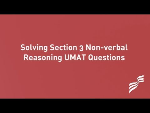 How to Solve Section 3 Non verbal Reasoning UMAT Questions