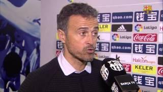 """Luis Enrique: """"La Real Sociedad ha sido superior"""""""