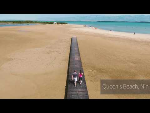 Paradise beach/Queen's beach — Rab & Nin | DRONE FOOTAGE |    Pointers Travel