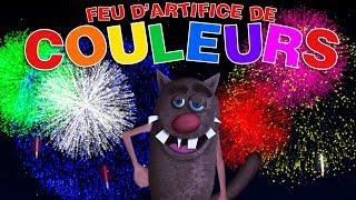 Foufou - Les Couleurs avec des feux d'Artifice pour les enfants (Colours with fireworks for Kids) 4k