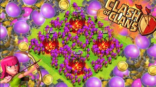 """Clash of Clans - """"MAXED ELIXIR & ARCHER LOOT RAIDS!"""" LIVE All Archer Attacks + MAXING DRAGONS!"""