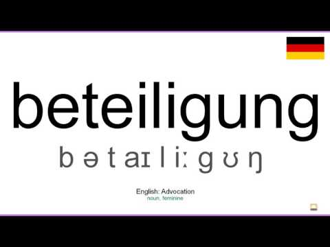 How to pronounce: Beteiligung (German)