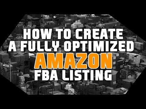 HOW TO CREATE AN AMAZON FBA LISTING WITH FULLY OPTIMIZED TITLE, BULLET POINTS AND BACKEND KEYWORDS!