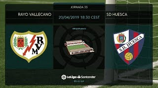 Calentamiento Rayo Vallecano vs SD Huesca