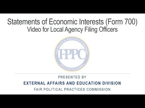 2017 Form 700 Local Agency Filing Officers