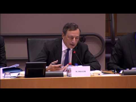 Mario Draghi Answers Question About Helicopter Money