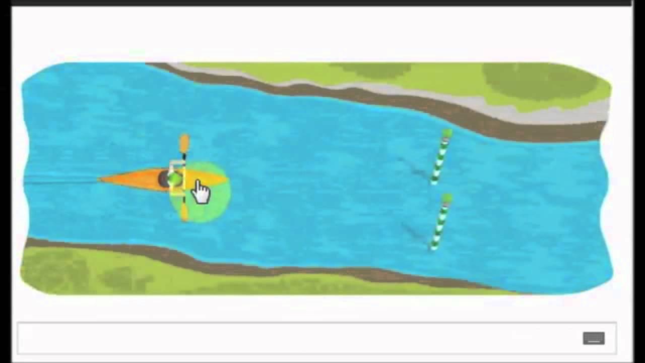 Google Doodle London 2012 Slalom Canoe Highest Speed 15
