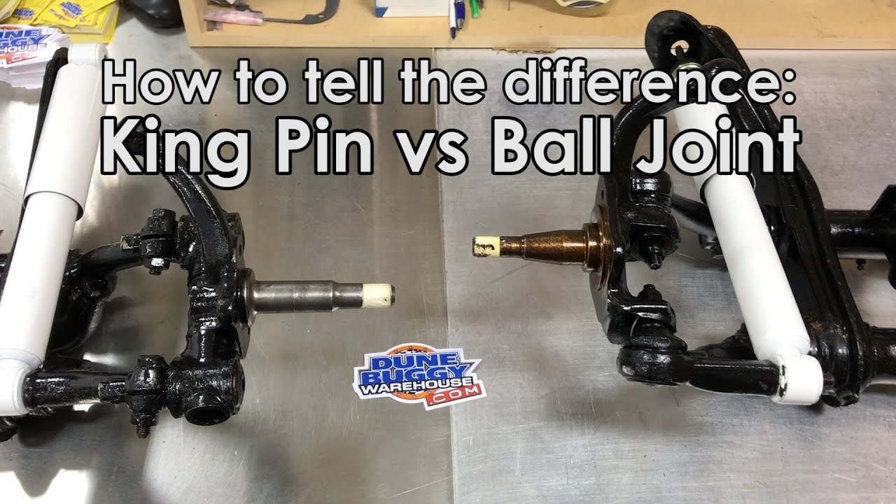 King Pin vs Ball Joint Front Suspension - How to tell the difference -  Air-Cooled VW Tech Tips