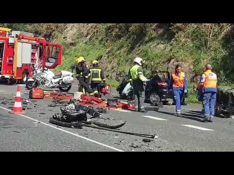 Una mujer muere en un accidente en la N-550 a la altura de Cerponzóns