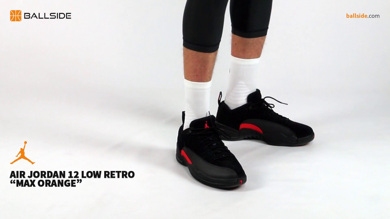 998ad1655da3 Air Jordan 12 Retro Low Max Orange on feet - YouTube