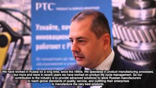 A Tasev, PTC Russia at Russian Machine-building Forum