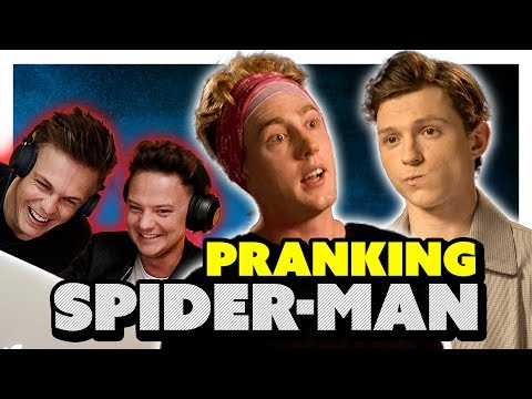 TOM HOLLAND  *PRANK* EARPIECE ft Conor Maynard & Caspar Lee