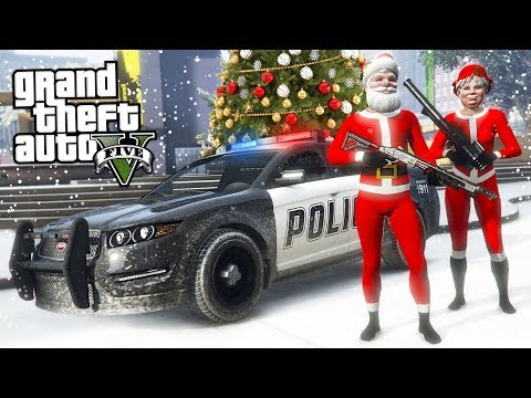 GTA 5  - COPS AND ROBBERS!! (GTA 5 Christmas DLC Update)