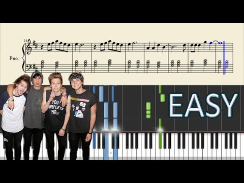 5 Seconds Of Summer  Jet Black Heart  EASY Piano Tutorial + Sheets