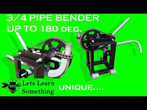 DIY || Pipe Bender using bicycle hub || Let's Learn Something