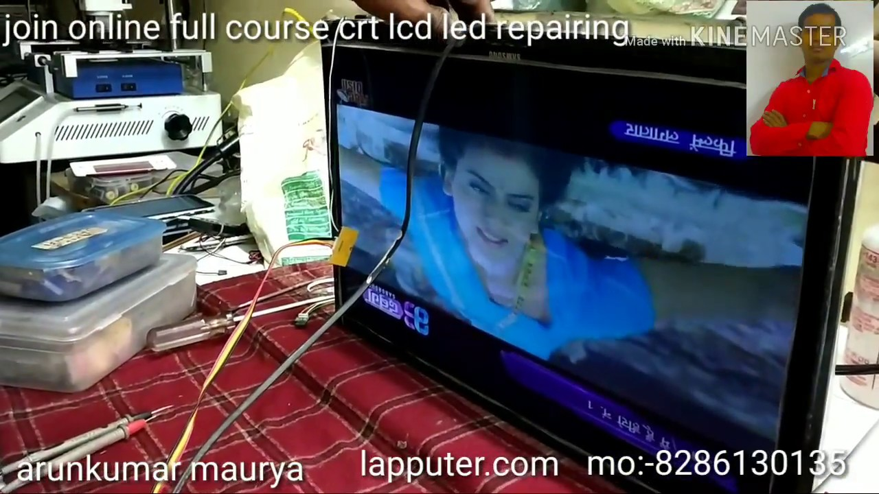 Samsung TV power supply repair step by step description