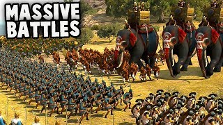 EPIC BATTLES!  Greatest General EVER!  (Hannibal vs ROME! Total War: Arena Gameplay)