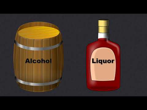 The Difference Between ALCOHOL and LIQUOR