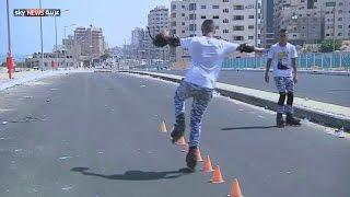 غزة.. التزلج في ظروف صعبة