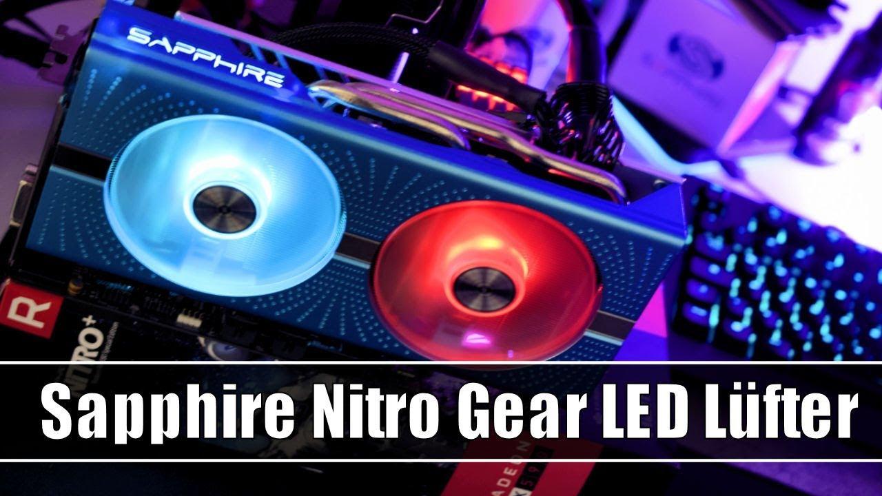 SAPPHIRE Nitro Gear LED Luefter Weiss