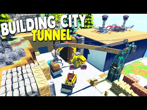 Completing the WORLD'S BIGGEST TUNNEL with Construction Crews | Eco Multiplayer Gameplay
