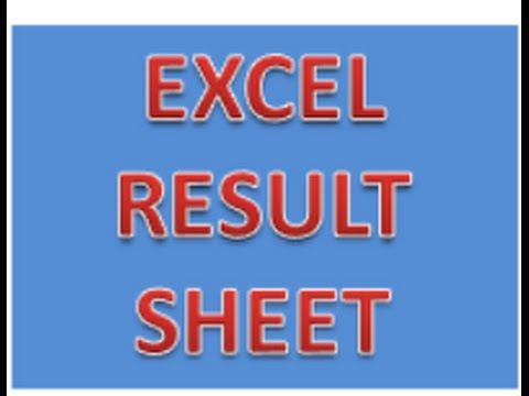 EXCEL Student Result Card or result Sheet of different student in MS Excel