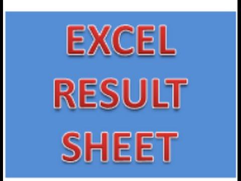 EXCEL Student Result Card or result Sheet of different student in MS - result card format in excel