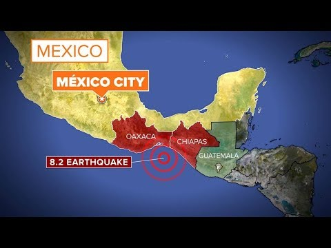 Earthquake For Mexico City Magnitude Sep Major - Mexico map hd
