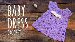 Repeat youtube video Tutorial Baby Crochet Dress