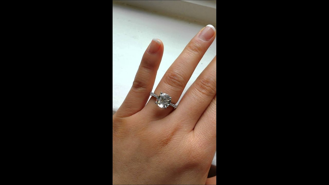 White Gold And Black Diamond Engagement Rings