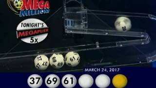 2017 03 24 Mega Millions Numbers and draw results