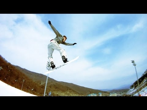 Snowboarding at Konjiam Ski Resort, South Korea - Jan 6, 2013 (곤지암리조트)