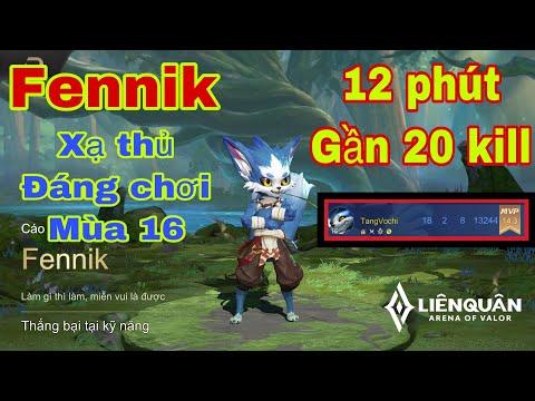 Fennik mùa 16 | Xạ thủ đáng chơi nhất liên quân mùa 16 | Fennik đi rừng 12 phút gần 20 Kill