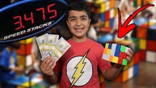 $20000 If You Can SOLVE This Impossible RUBIKS CUBE  *WORLD RECORD* (LITTLE KID SOLVES RUBIKS CUBE!)