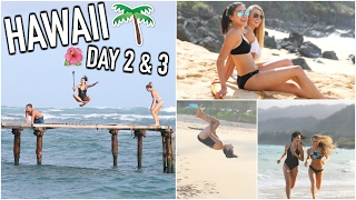 Trampoline In The Ocean & Hanging w/ a Subscriber! HAWAII DAY 2 & 3