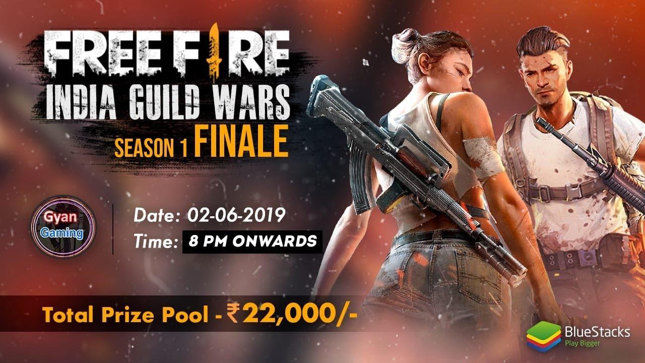 FREE FIRE INDIA GUILD WARS SEASON 1 FINALE| BY  BLUESTACKS
