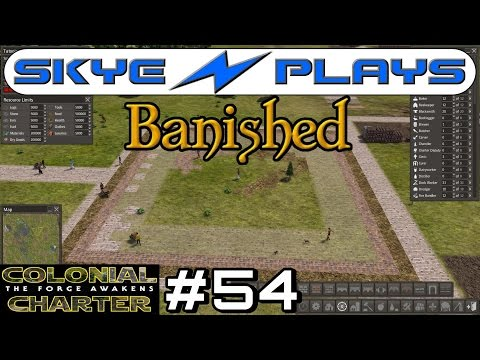 Banished Colonial Charter 1.6 #54 ►Town Square Mosaic Design!◀ Let's Play/Gameplay [1080p 60FPS]