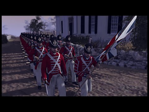 THE WAR OF 1812! Britain Invades the United States - Men of War BITFA Mod Gameplay