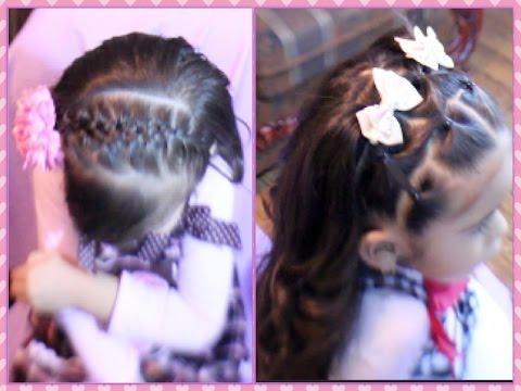 Dos Peinados Faciles De Niña Para La Escuela O Eventos Especiales