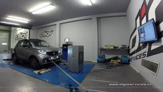 Smart Fortwo 0.9 TCE 90cv AUTO Reprogrammation Moteur @ 113cv Digiservices Paris 77 Dyno