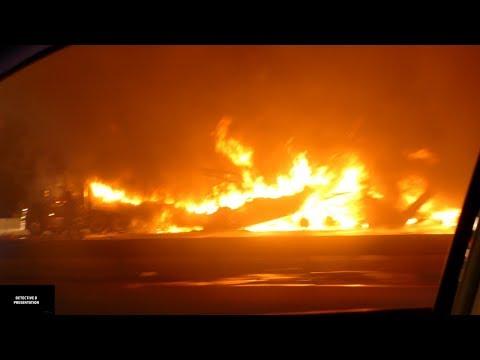 East Windsor: 2 Trucks On Fire After Fatal Accident on NJTP. 9/ 20/ 17