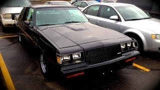 1987 Buick Regal Grand National Start Up, Quick Tour, & Rev With Exhaust View - 73K