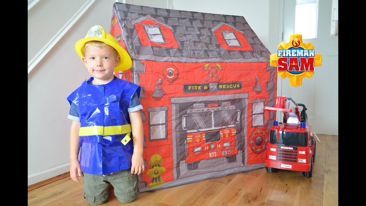 Fireman Sam Tent Amp Fireman Sam Fire Station Building Fire