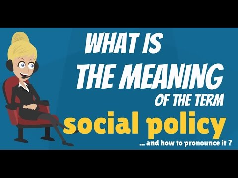 What is SOCIAL POLICY? What does SOCIAL POLICY mean? SOCIAL POLICY meaning, definition & explanation