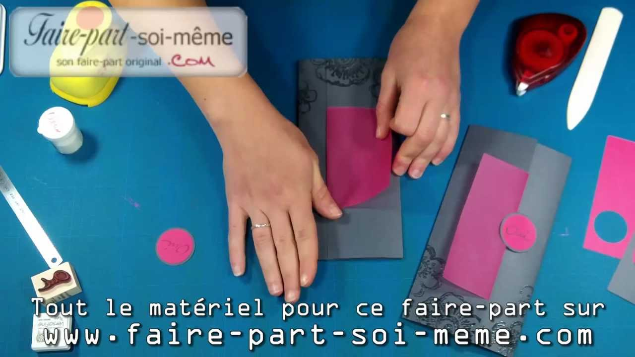 Faire part de mariage chic youtube - Faire son ilot central soi meme ...