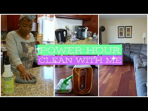 Power Hour Clean With Me | Cleaning Motivation 2018 | How To Clean Your House Fast And Easy 2018