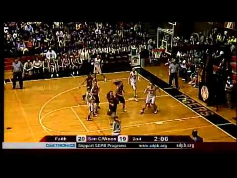 2012 State B Girls Basketball Game 11: Sanborn Central/ Woonsocket vs Faith