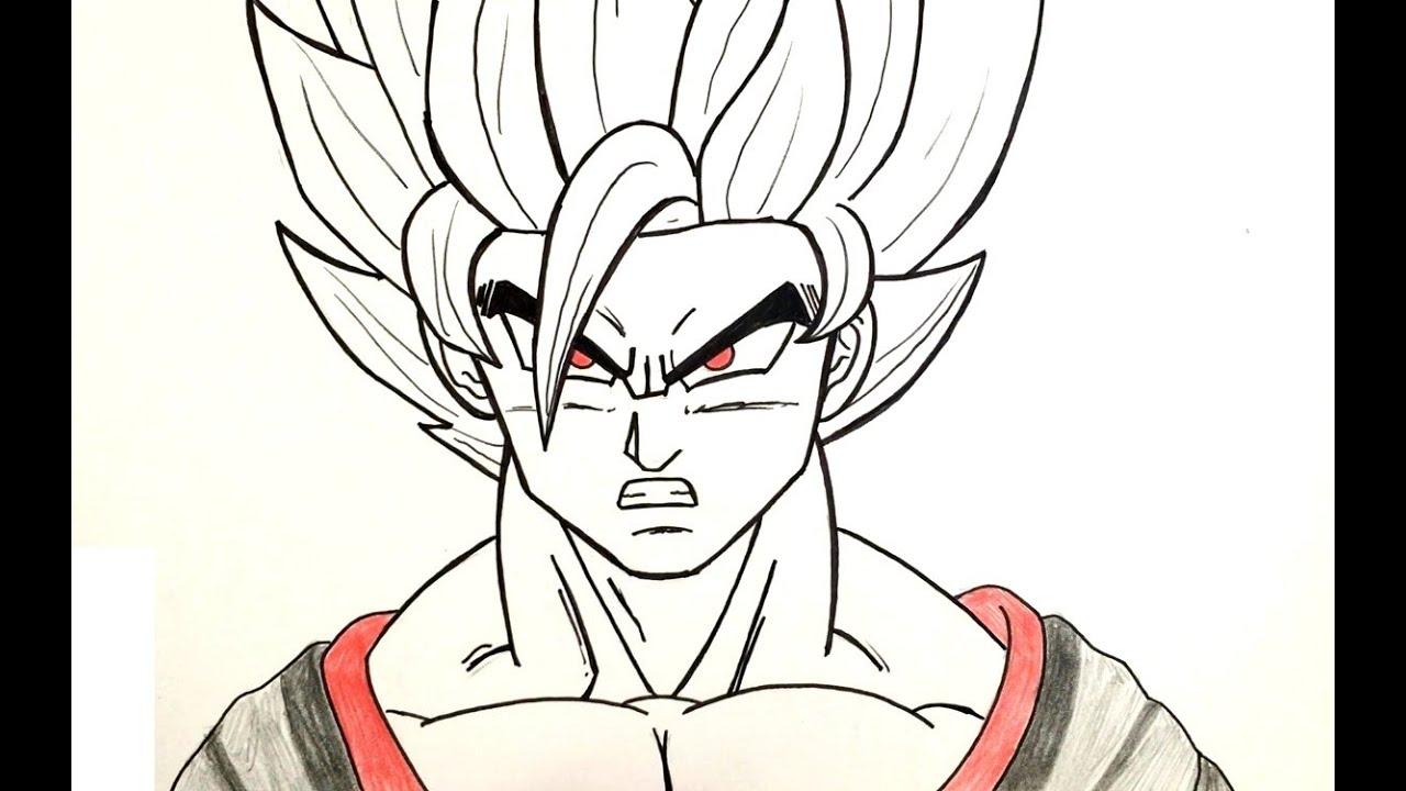 Comment dessiner black goku dbs youtube - Comment dessiner goku ...
