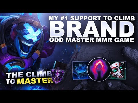 MY #1 SUPPORT TO CLIMB! BRAND! ODD MASTER MMR GAME - Climb to Master S9 | League of Legends
